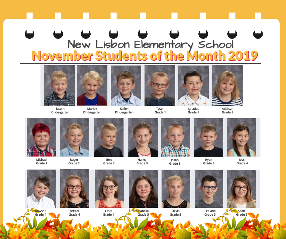 November Students of the Month