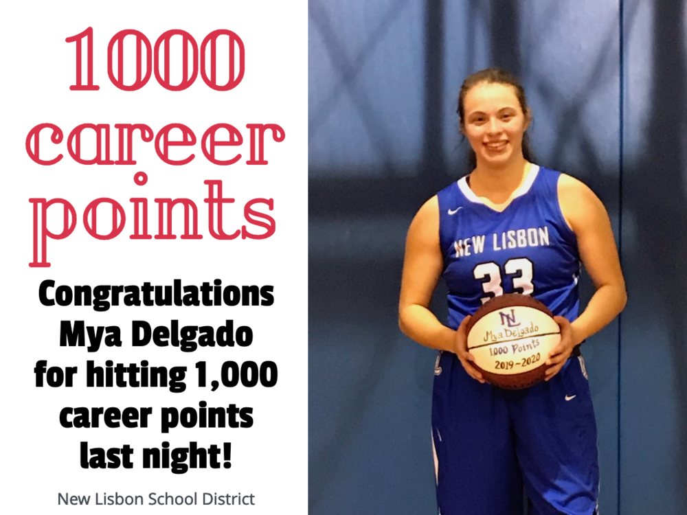 Delgado Hits 1000 Career Points