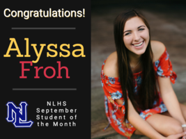 Froh Selected Student of the Month