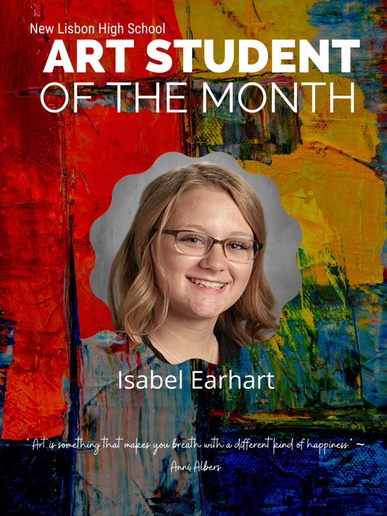 NLHS Art Student of Month