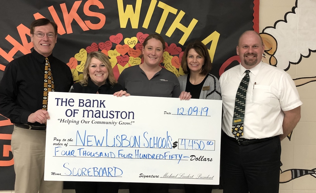 Bank of Mauston Donation
